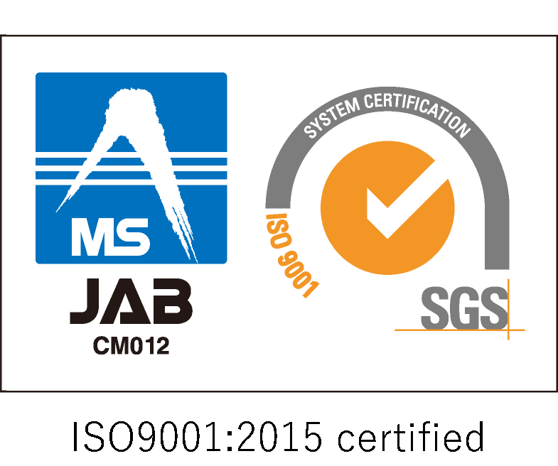 ISO 9001 Certification acquired: 2015/Certificate of registration JP12/062379