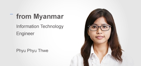Application Engineer: Phyu phyu Thwe(from Myanmar)